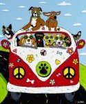 """Peace, Woof & Happiness,"" by Angela Alexander."