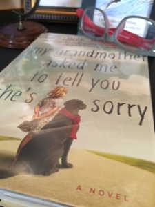 "My current read: Fredrik Backman's ""My Grandmother Asked Me to Tell You She's Sorry."""